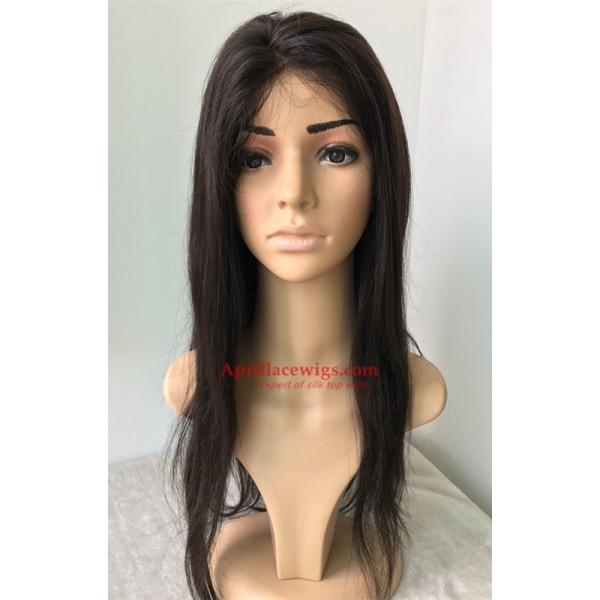Virgin Indian Human Hair Full Lace Wigs 56