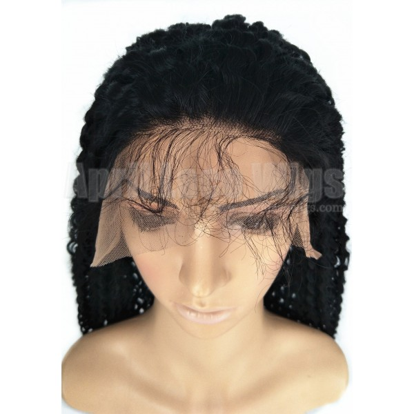 Indian Remy Jerry Curl Glueless Lace Front Wig