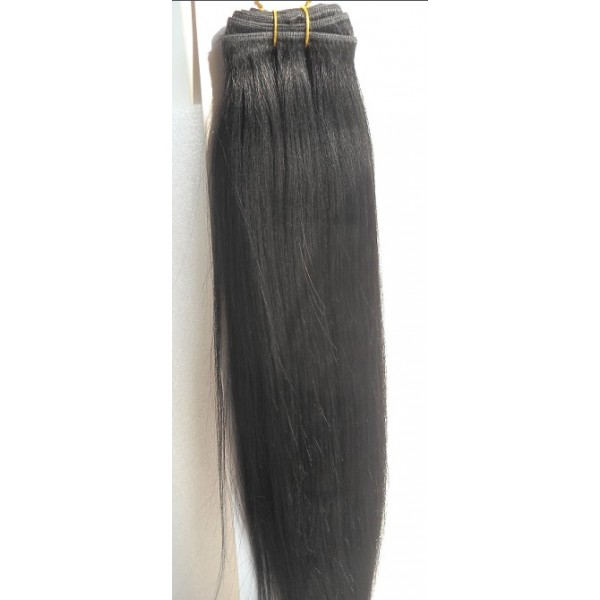 Yaki Straight Hair Extension Yaki Human Hair Weft Human Hair Weave