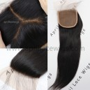 Brazilian virgin silk straight silk base top closure-W56318