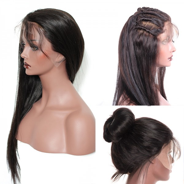 Natural Straight Human Hair Full Lace Wig Bw8001 Aprillacewigs Com