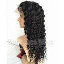 Indian remy curly human hair glueless lace front wig-bw0023