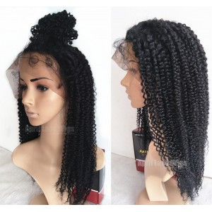 Indian remy human Hair Jerry Curl full lace wig-Curly full lace wigs ... 33b76d50b006