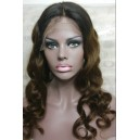 Ombre Color glueless full lace wig with 2x4 silk top wig