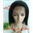 indian remy Italian yaki glueless full lace silk top with kamo knots in stock wig KM003