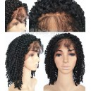 Malaysian Virgin human hair Kinky Curl full lace wig-BW0037