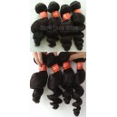 Brazilian virgin hair natural color wefts 4 bundles in stock-BVW04