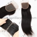 Brazilian virgin straight natural color human hair lace closure-LC01