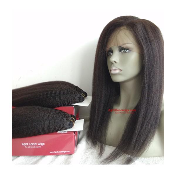Italian Yaki Human Hair 360 Frontal And 2 Bundles Wefts