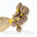 brazilian virgin hair silk straight  hair hand tied wefts double drawn on sales 16958-1