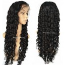 Chinese virgin Curly silk top full lace wig with baby hair-BW0042