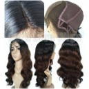 virgin hair Ombre Color glueless full lace wig with 2x4 silk top wig on sale 15407-6