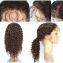 Chines virgin deep wave full lace wig with bleached knots baby hairs 12652-8