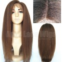 Italian yaki full lace wig with baby hairs bleached knots on sale 15723-7
