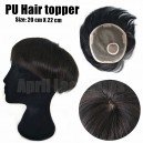 PU Poly Around Natural Color hair topper --TPP001
