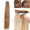 virgin hair natural straight PU thin skin hair weaving wefts PW01