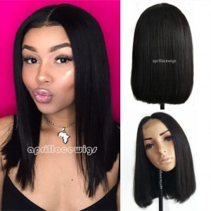 Brazilian straight blunt cut bob 2x4 lace front closure wig f21ff563d