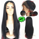 Yaki straight color 1b glueless lace front wig--SP007