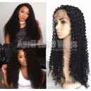 Malaysian virgin hair Spanish curly full lace wig bleached knots-lw6012