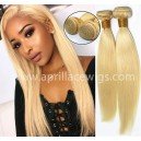 2 bundles color 613 blonde virgin human hair wefts BVW62