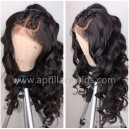 Brazilian virgin ocean wave glueless 360 wig--BW1240