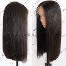 silk straight long blunt cut glueless 360 wig with preplucked hairline BW1111