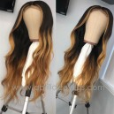9A virgin hair customized color glueless 13 by 6 lace front wig preplucked hairline BW0028