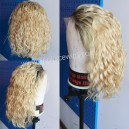 Blonde Wavy BOB Glueless Lace Front Wig Pre Plucked BB121