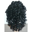 Indian remy big curl glueless full lace wig with silk top SG-005