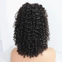 14 inches virgin human hair curly silk top 360 wig