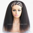 Headband Wigs Italian Yaki Brazilian Virgin Hair Wigs For Black Women HBW24