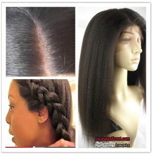 Italian Yaki Silk Top Bleached Knots Full Lace Wigs For Black Women