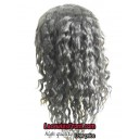 10mm curly silk top bleached knots Burmese virgin Full lace wig-bW0091