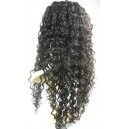 Deep wave chinese virgin full lace wig silk top bleached knots-bw00623