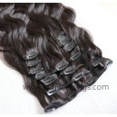 Body wave human hair clips in hair extensions --CE02
