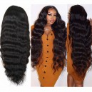 Malaysia virgin human hair 150 density silk top glueless full lace wig-LW4002