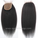 Indian remy italian Yaki Silk Base Top Closure-W56311