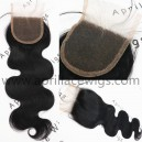 Brazilian virgin body wave natural color human hair lace closure-LC02