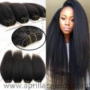 Indian remy italian yaki human hair wefts 4 bundles-IYW04