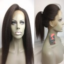 Italian yaki 360 frontal indian remy human hair bleached knots --RF04