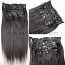 Yaki straight human hair clips in hair extensions --CE03