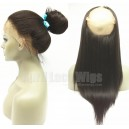 Light yaki 360 frontal Chinese virgin human hair bleached knots --RF05