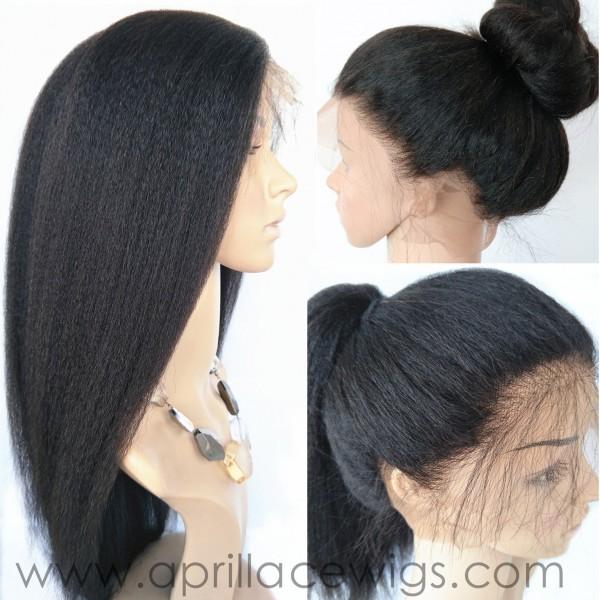 Virgin Hair Italian Yaki Remy Hair 360 Wig