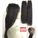 Chinese virgin light yaki 360 lace frontal and 2 bundles --WRF052