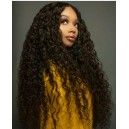 Brazilian virgin wet wave full lace wig bleached knots --LW00640
