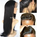 Brazilian virgin straight 360 frontal wig--BW0160