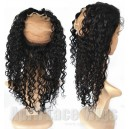 Brazilian virgin natural color wet wave 360 lace frontal ---RF06