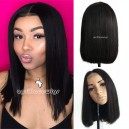 Brazilian straight blunt cut bob 2x4 lace front closure wig --BB009