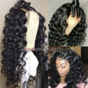 Malaysian virgin Goddess wave 360 wig --BW0470
