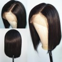 Silky straight glueless 360 bob wig with preplucked hairline --BB012